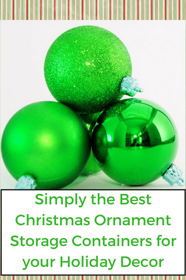 best christmas ornament storage containers